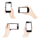 Female hands holding smartphone Royalty Free Stock Photography