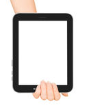 Female hands holding a tablet touch Royalty Free Stock Photo