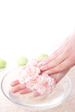 Female Hands In Bowl Full Of Water Royalty Free Stock Photo