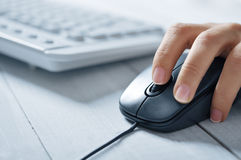 Female hands and keyboards Royalty Free Stock Image