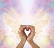 Sending Love and Gratitude to your Guardian Angel royalty free stock photography