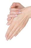 Female hands with manicure Royalty Free Stock Image