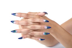 Female hands with manicure Royalty Free Stock Images