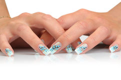 Female hands with manicure Royalty Free Stock Photo