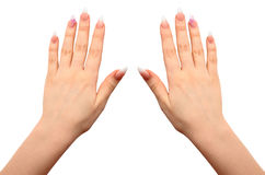 Female hands with manicure close up Stock Image