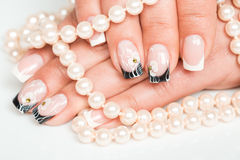 Female hands with manicure closeup Royalty Free Stock Photos