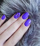 female hands, manicure fur stock photography