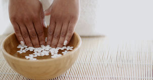 Female Hands And Manicure In Spa Salon Royalty Free Stock Photography