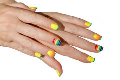 Female hands with manicure Stock Image
