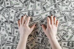 Female hands and money Stock Image