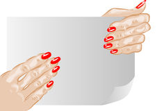 Female hands and nails Stock Photography