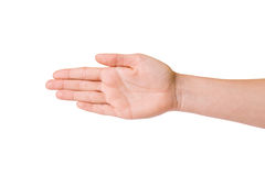 Female hands over white background Royalty Free Stock Images