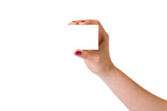 Female hands over white background Stock Images