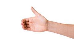 Female hands over white background Royalty Free Stock Photo