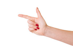 Female hands over white background Royalty Free Stock Photography