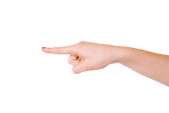 Female hands over white background Stock Photography