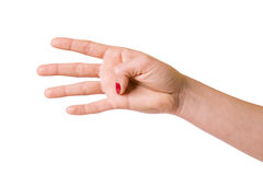 Female hands over white background Stock Photo