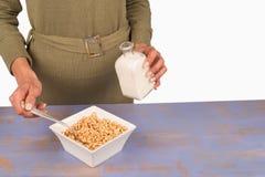Puffed rice breakfast Stock Image