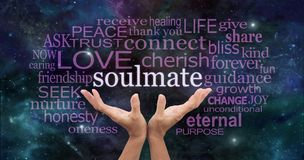 Searching for My Soulmate Word Cloud royalty free stock images