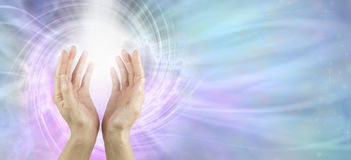 Channeling Vortex healing energy Stock Images