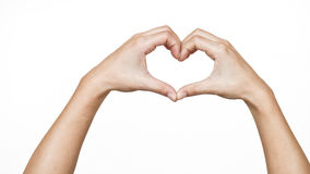 Female hands shaping a heart Royalty Free Stock Images