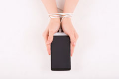 Female hands with smartphone Stock Photos