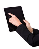 Female hands with tablet Stock Image