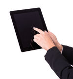 Female hands with tablet Stock Photo