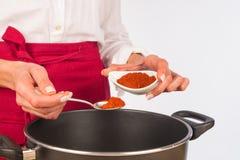 Seasoning with paprika Stock Photo