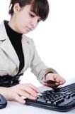 Female hands typing Stock Photos