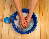 Female hands washing Royalty Free Stock Photography
