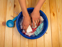 Female hands washing Royalty Free Stock Images
