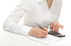 Free Female Hands With Calculator Royalty Free Stock Photography - 25050737