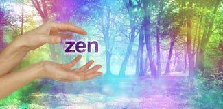 Healing in a Beautiful Zen Space vector illustration