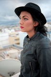 Female with hat Royalty Free Stock Images