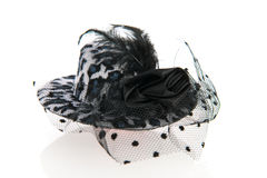 Female hat with veil Stock Images