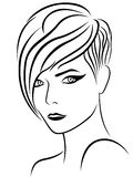 Female head with nice hairstyle Stock Photo