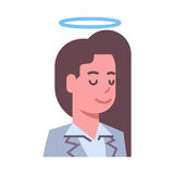 Female Head With Nimbus Emotion Icon Isolated Avatar Woman Facial Expression Concept Face. Vector Illustration Stock Photo