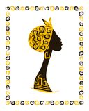 Female head silhouette for your design, ethnic Stock Images