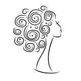 Female head silhouette for your design Royalty Free Stock Photography