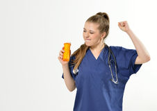 Female Healthcare Professional - pills Royalty Free Stock Image