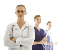 Female healthcare workers Stock Photo