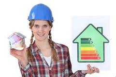Female heating engineer Royalty Free Stock Photos