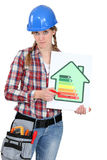 Female heating engineer Royalty Free Stock Images