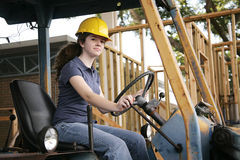 Female Heavy Equipment Operator royalty free stock photo
