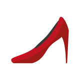 Female heel shoe icon. Vector illustration design Stock Photography