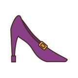 Female heel shoe icon. Vector illustration design Stock Image