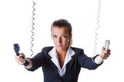 Female helpdesk operator Royalty Free Stock Images