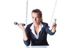 Female helpdesk operator Stock Photography