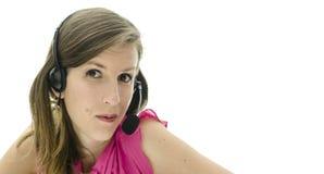 Female helpline operator Royalty Free Stock Photography